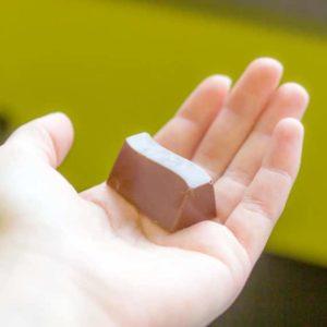 Tastey Cocoas CBD hemp chocolate in dark mint chocolate flavor that is ready to eat